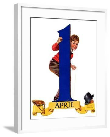 """""""April Fool's Day,""""April 2, 1938-Russell Sambrook-Framed Giclee Print"""