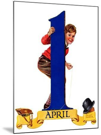 """""""April Fool's Day,""""April 2, 1938-Russell Sambrook-Mounted Giclee Print"""