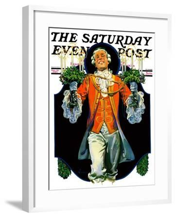 """""""Candles for Christmas,"""" Saturday Evening Post Cover, December 14, 1929-Elbert Mcgran Jackson-Framed Giclee Print"""