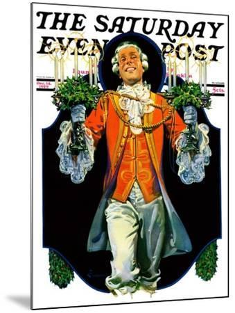 """""""Candles for Christmas,"""" Saturday Evening Post Cover, December 14, 1929-Elbert Mcgran Jackson-Mounted Giclee Print"""