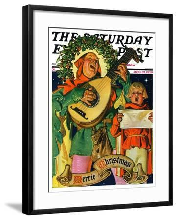 """Christmas Minstrels,"" Saturday Evening Post Cover, December 21, 1929-Joseph Christian Leyendecker-Framed Giclee Print"