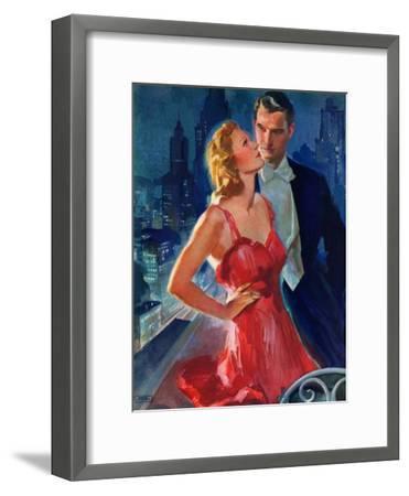 """Formal Couple on Balcony,""July 30, 1938-John LaGatta-Framed Giclee Print"