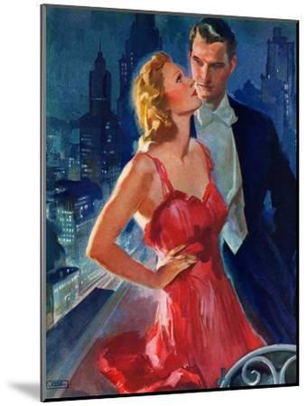 """Formal Couple on Balcony,""July 30, 1938-John LaGatta-Mounted Giclee Print"