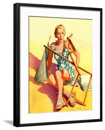 """Broken Beach Chair,""August 12, 1939-John Hyde Phillips-Framed Giclee Print"