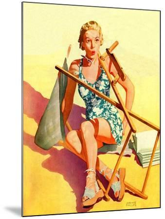 """Broken Beach Chair,""August 12, 1939-John Hyde Phillips-Mounted Giclee Print"