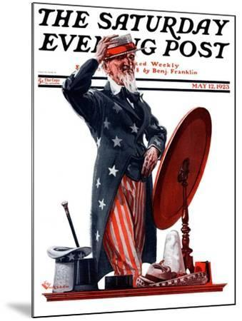 """""""New Hat for Uncle Sam,"""" Saturday Evening Post Cover, May 12, 1923-Elbert Mcgran Jackson-Mounted Giclee Print"""
