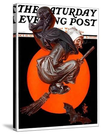 """Witches Night Out,"" Saturday Evening Post Cover, October 27, 1923-Joseph Christian Leyendecker-Stretched Canvas Print"