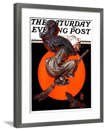 """Witches Night Out,"" Saturday Evening Post Cover, October 27, 1923-Joseph Christian Leyendecker-Framed Giclee Print"