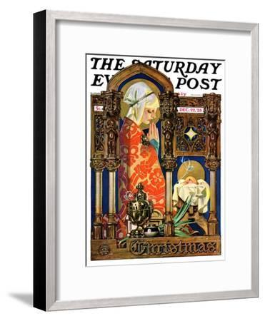 """Madonna and Child,"" Saturday Evening Post Cover, December 22, 1928-Joseph Christian Leyendecker-Framed Giclee Print"