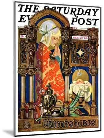 """""""Madonna and Child,"""" Saturday Evening Post Cover, December 22, 1928-Joseph Christian Leyendecker-Mounted Giclee Print"""
