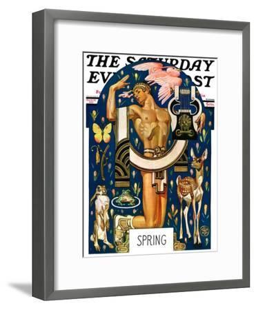 """Spring 1929,"" Saturday Evening Post Cover, March 30, 1929-Joseph Christian Leyendecker-Framed Giclee Print"