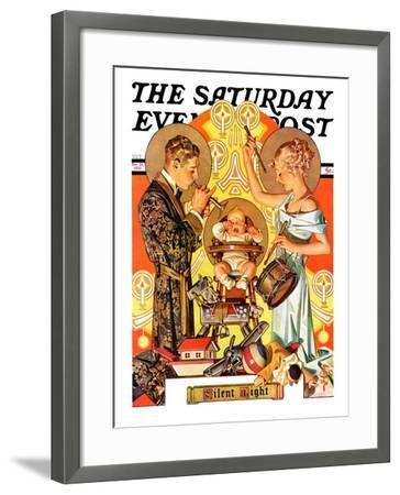 """Silent Night,"" Saturday Evening Post Cover, December 28, 1935-Joseph Christian Leyendecker-Framed Giclee Print"