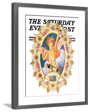 """St. Valentine,"" Saturday Evening Post Cover, February 15, 1936-Joseph Christian Leyendecker-Framed Giclee Print"