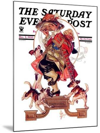 """Begging for Turkey,"" Saturday Evening Post Cover, December 2, 1933-Joseph Christian Leyendecker-Mounted Giclee Print"