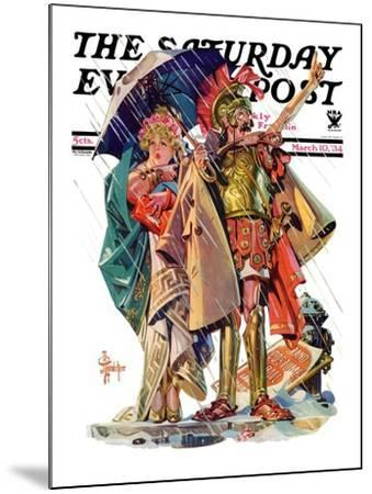"""""""Roman Costumes,"""" Saturday Evening Post Cover, March 10, 1934-Joseph Christian Leyendecker-Mounted Giclee Print"""