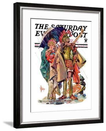 """Roman Costumes,"" Saturday Evening Post Cover, March 10, 1934-Joseph Christian Leyendecker-Framed Giclee Print"