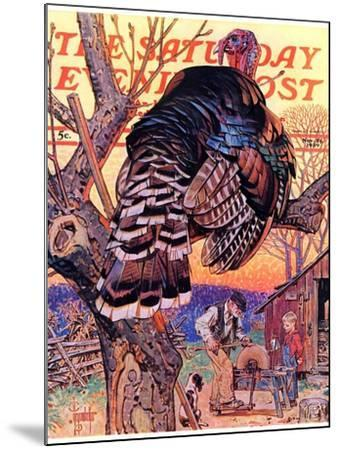 """Turkey in the Tree,"" Saturday Evening Post Cover, November 25, 1939-Joseph Christian Leyendecker-Mounted Giclee Print"