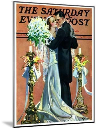 """Bridal Couple Dancing,"" Saturday Evening Post Cover, June 6, 1931-Elbert Mcgran Jackson-Mounted Giclee Print"