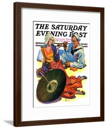 """Shore Leave,"" Saturday Evening Post Cover, August 8, 1931-Elbert Mcgran Jackson-Framed Giclee Print"