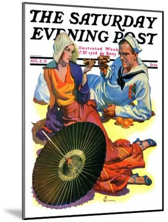 """""""Shore Leave,"""" Saturday Evening Post Cover, August 8, 1931-Elbert Mcgran Jackson-Mounted Giclee Print"""