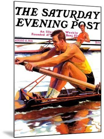 """""""Sculling Race,"""" Saturday Evening Post Cover, August 15, 1936-Maurice Bower-Mounted Giclee Print"""