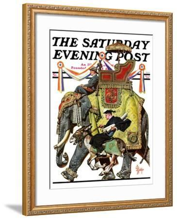 """Political Party Symbols,"" Saturday Evening Post Cover, October 17, 1936-Joseph Christian Leyendecker-Framed Giclee Print"