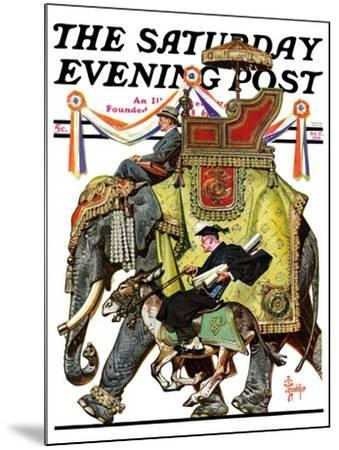 """Political Party Symbols,"" Saturday Evening Post Cover, October 17, 1936-Joseph Christian Leyendecker-Mounted Giclee Print"