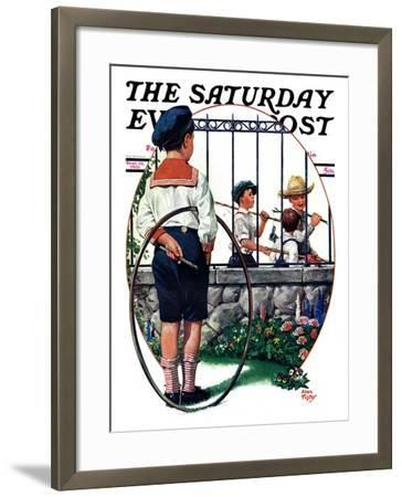 """""""The Other Half, One,"""" Saturday Evening Post Cover, September 19, 1931-Alan Foster-Framed Giclee Print"""