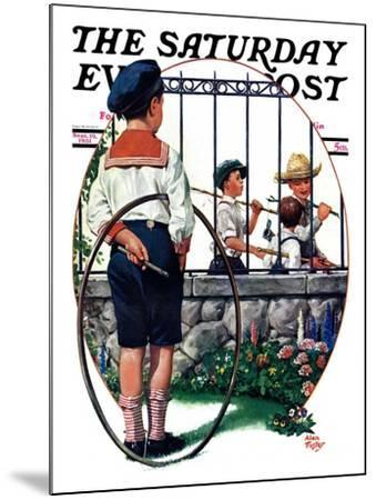 """""""The Other Half, One,"""" Saturday Evening Post Cover, September 19, 1931-Alan Foster-Mounted Giclee Print"""