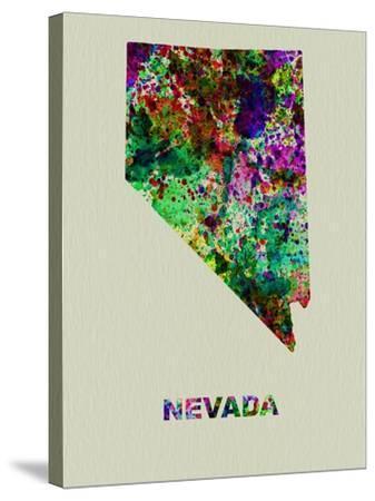 Nevada Color Splatter Map-NaxArt-Stretched Canvas Print