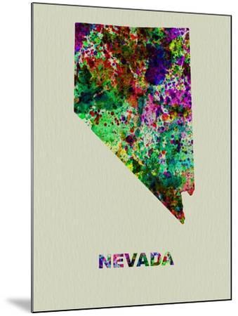 Nevada Color Splatter Map-NaxArt-Mounted Art Print