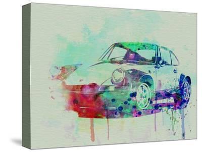 Porsche 911 Watercolor 2-NaxArt-Stretched Canvas Print