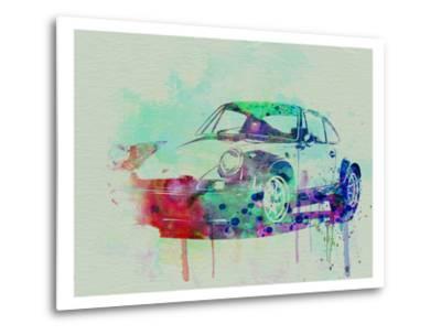 Porsche 911 Watercolor 2-NaxArt-Metal Print