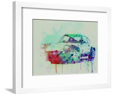 Porsche 911 Watercolor 2-NaxArt-Framed Art Print