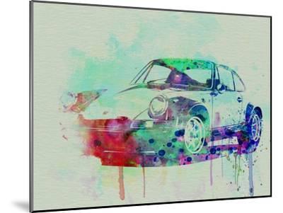 Porsche 911 Watercolor 2-NaxArt-Mounted Art Print