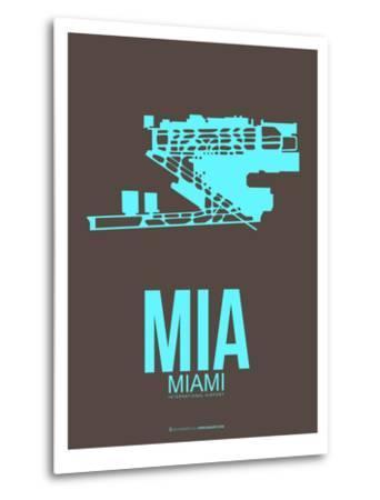 Mia Miamy Poster 2-NaxArt-Metal Print