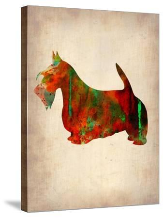Scottish Terrier Watercolor 2-NaxArt-Stretched Canvas Print