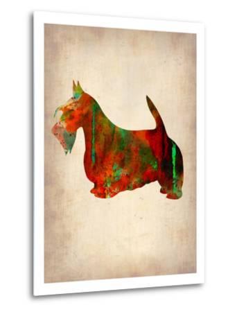 Scottish Terrier Watercolor 2-NaxArt-Metal Print