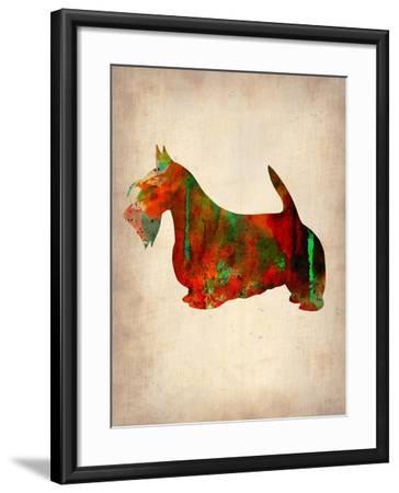 Scottish Terrier Watercolor 2-NaxArt-Framed Art Print