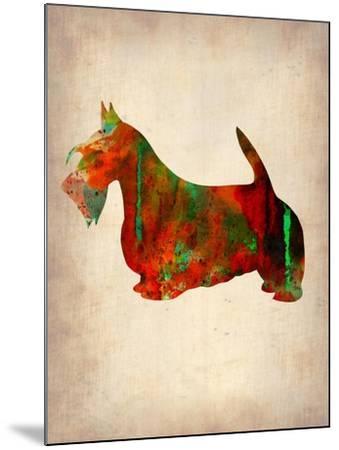 Scottish Terrier Watercolor 2-NaxArt-Mounted Art Print