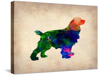Spaniel Watercolor-NaxArt-Stretched Canvas Print