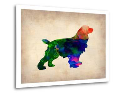 Spaniel Watercolor-NaxArt-Metal Print