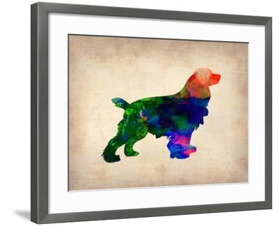 Spaniel Watercolor-NaxArt-Framed Art Print