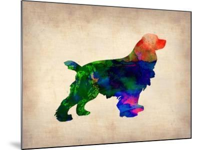 Spaniel Watercolor-NaxArt-Mounted Art Print