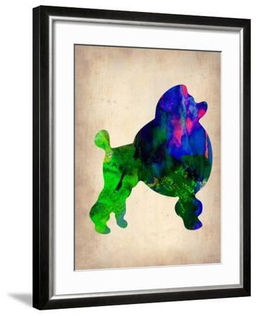 French Poodle Watercolor-NaxArt-Framed Art Print