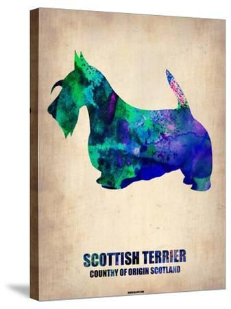 Scottish Terrier Poster-NaxArt-Stretched Canvas Print