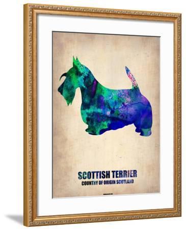 Scottish Terrier Poster-NaxArt-Framed Art Print