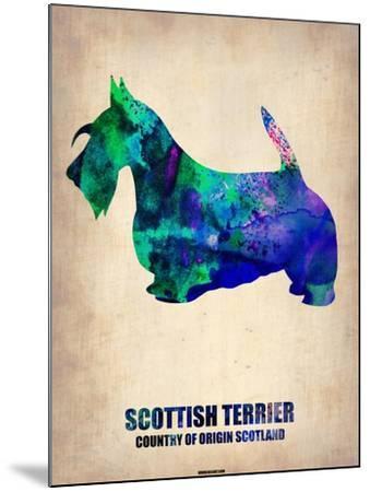 Scottish Terrier Poster-NaxArt-Mounted Art Print