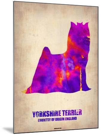 Yorkshire Terrier Poster-NaxArt-Mounted Art Print