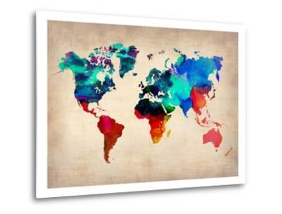World Watercolor Map 1-NaxArt-Metal Print